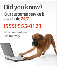 Our customer service is available 24/7. Call us at (555) 555-0123.